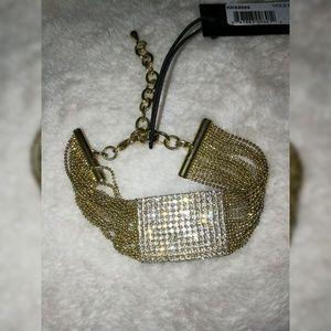 🆕▪️KK JEWELRY MULTI CHAIN GOLD BRACELET W STONES